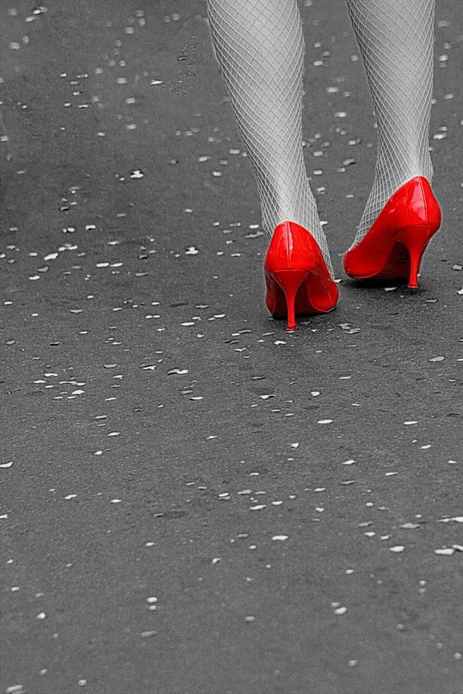 A preto e branco e vermelho