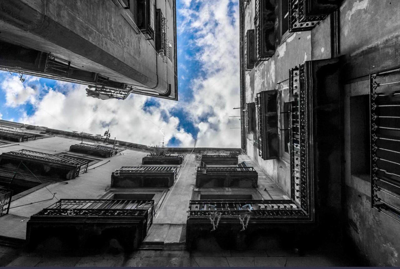 No meio de prédios o céu é o céu